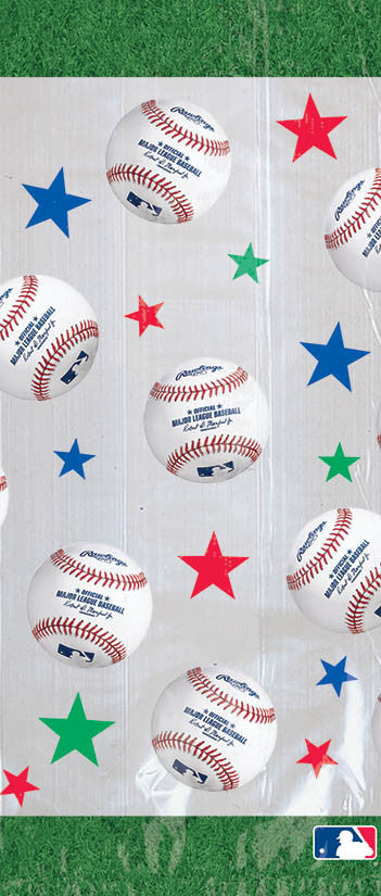 MLB Cello Treat Bags 20ct - BASEBALL/SOFTBALL - Party Supplies - America Likes To Party