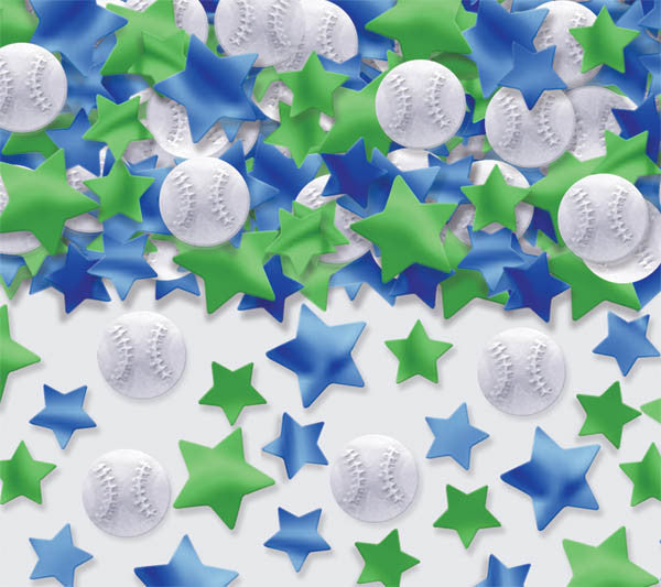 Baseball Confetti 2.5oz - BASEBALL/SOFTBALL - Party Supplies - America Likes To Party