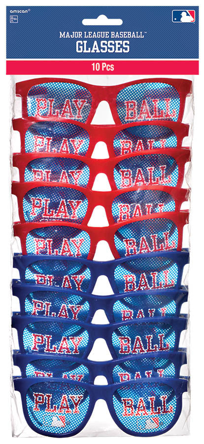 MLB Glasses 10ct - BASEBALL/SOFTBALL - Party Supplies - America Likes To Party
