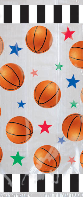 Basketball Cello Treat Bags 20ct - BASKETBALL - Party Supplies - America Likes To Party