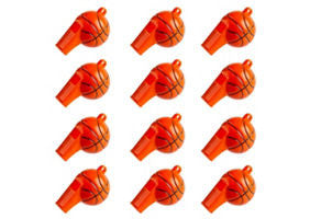 Basketball Whistles 12ct - BASKETBALL - Party Supplies - America Likes To Party