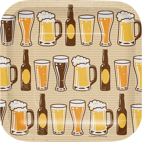 Beers & Cheers Dessert Plates 8ct - GENERAL BIRTHDAY PATTERNS - Party Supplies - America Likes To Party