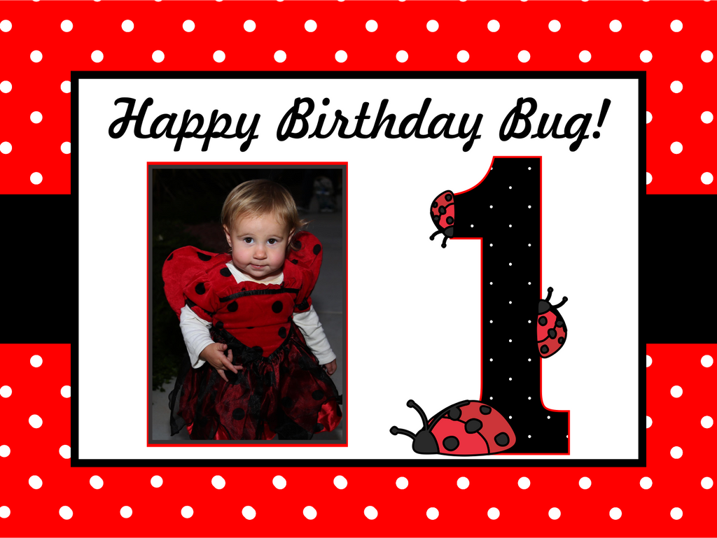 "Birthday Bug Custom 18"" X 24"" Lawn Sign"