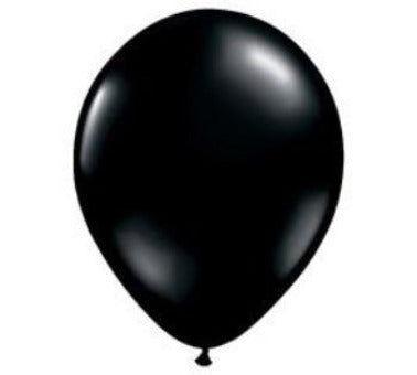 Inflated Black Latex Balloon