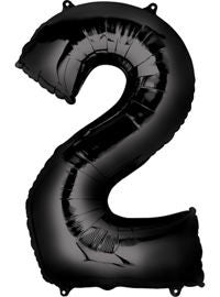 Giant Black Number 2 Balloon - MEGALOON NUMBERS/LETTERS - Party Supplies - America Likes To Party