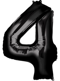 Giant Black Number 4 Balloon - MEGALOON NUMBERS/LETTERS - Party Supplies - America Likes To Party