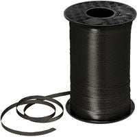 500YD Black Curling Ribbon - RIBBON - Party Supplies - America Likes To Party