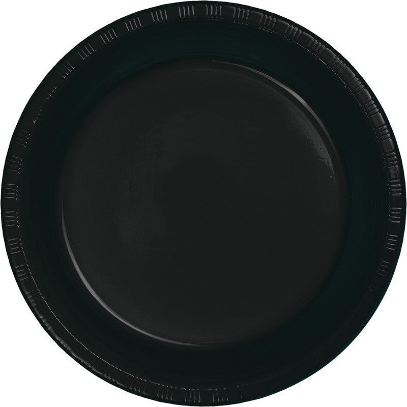 Jet Black Big Party Pack Plastic Dinner Plates 50ct - BIG PARTY PACKS - Party Supplies - America Likes To Party