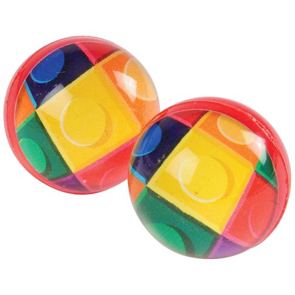 Block Mania Bounce Balls 12ct - PACKAGED FAVORS - Party Supplies - America Likes To Party