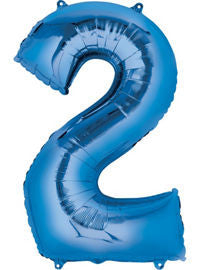 Giant Blue Number 2 Balloon - MEGALOON NUMBERS/LETTERS - Party Supplies - America Likes To Party