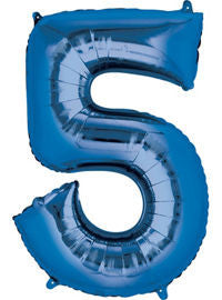 Giant Blue Number 5 Balloon - MEGALOON NUMBERS/LETTERS - Party Supplies - America Likes To Party