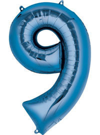 Giant Blue Number 9 Balloon - MEGALOON NUMBERS/LETTERS - Party Supplies - America Likes To Party