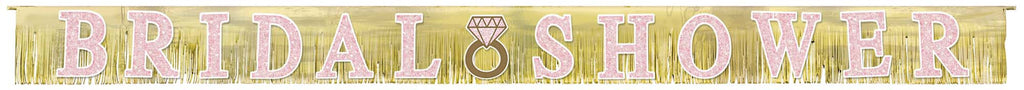 Bridal Shower Fringe Banner - DECORATIONS WEDDING - Party Supplies - America Likes To Party