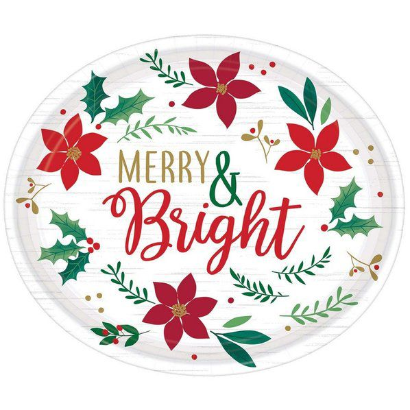 Christmas Wishes Oval Platter
