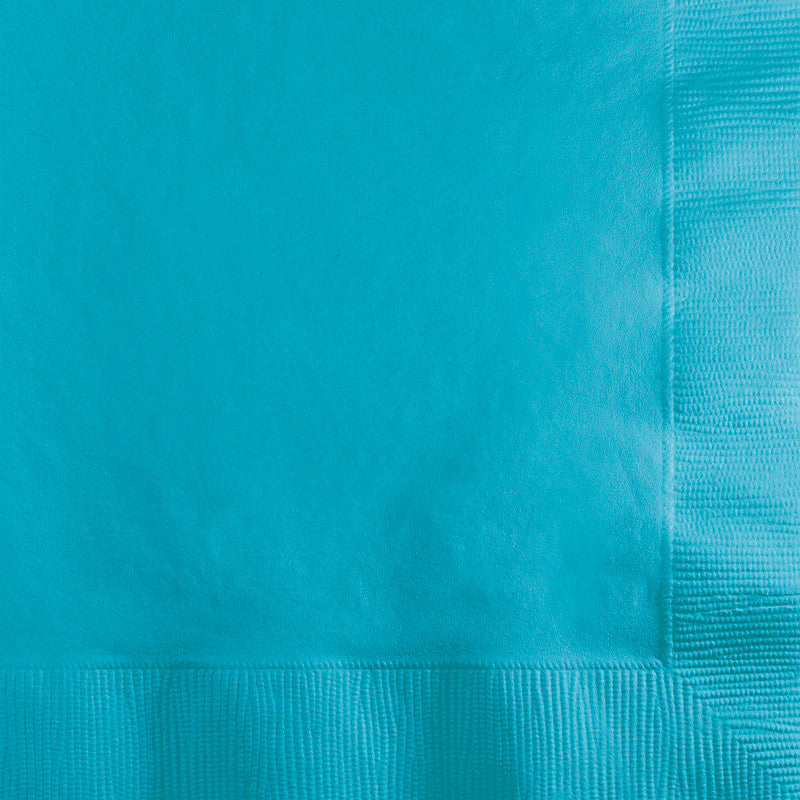 Caribbean Blue Big Party Pack Beverage Napkins 125ct - BIG PARTY PACKS - Party Supplies - America Likes To Party