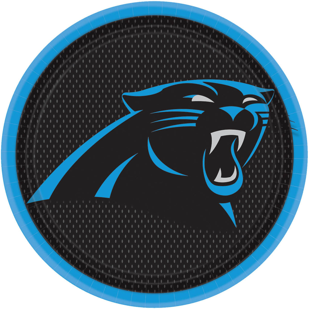 Carolina Panthers Lunch Plates 8ct - NFL - Party Supplies - America Likes To Party