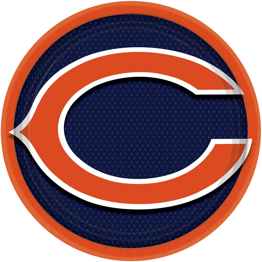 Chicago Bears Lunch Plates 8ct - NFL - Party Supplies - America Likes To Party