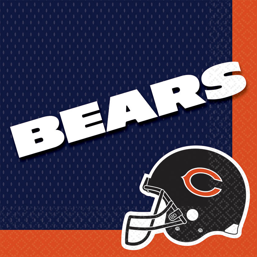 Chicago Bears Lunch Napkins 16ct - NFL - Party Supplies - America Likes To Party