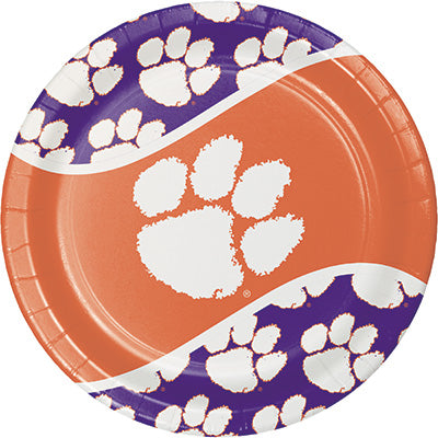 Clemson Lunch Plates 8ct - COLLEGE SPORTS - Party Supplies - America Likes To Party