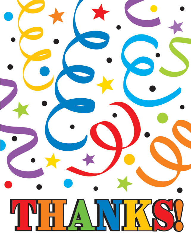 Colorful Birthday Thank You Cards - $.99 / $1.49 - Party Supplies - America Likes To Party