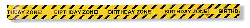 Construction Zone 'Birthday Zone' Warning Tape - CONSTRUCTION - Party Supplies - America Likes To Party