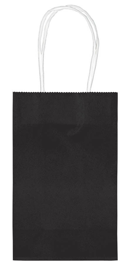 Black Paper Cub Bags 10ct - FAVOR BAGS/CONTAINERS - Party Supplies - America Likes To Party