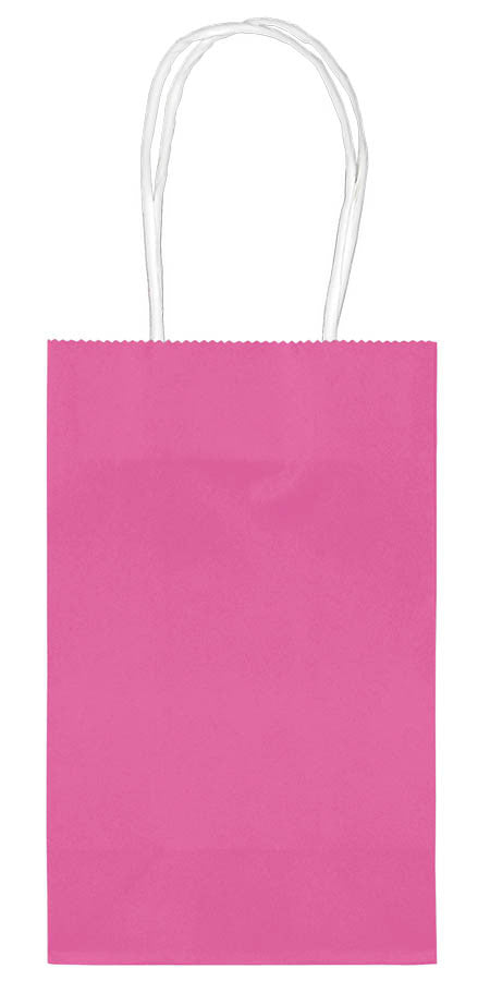 Bright Pink Paper Cub Bags 10ct - FAVOR BAGS/CONTAINERS - Party Supplies - America Likes To Party