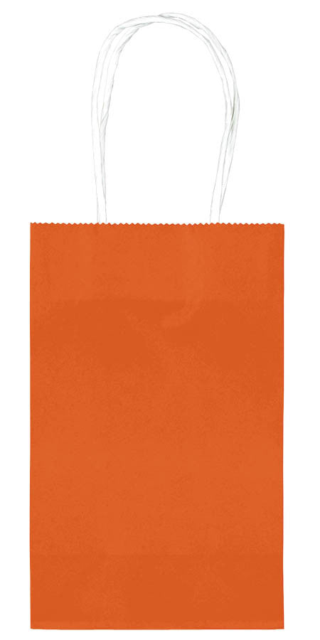 Orange Paper Cub Bags 10ct - FAVOR BAGS/CONTAINERS - Party Supplies - America Likes To Party