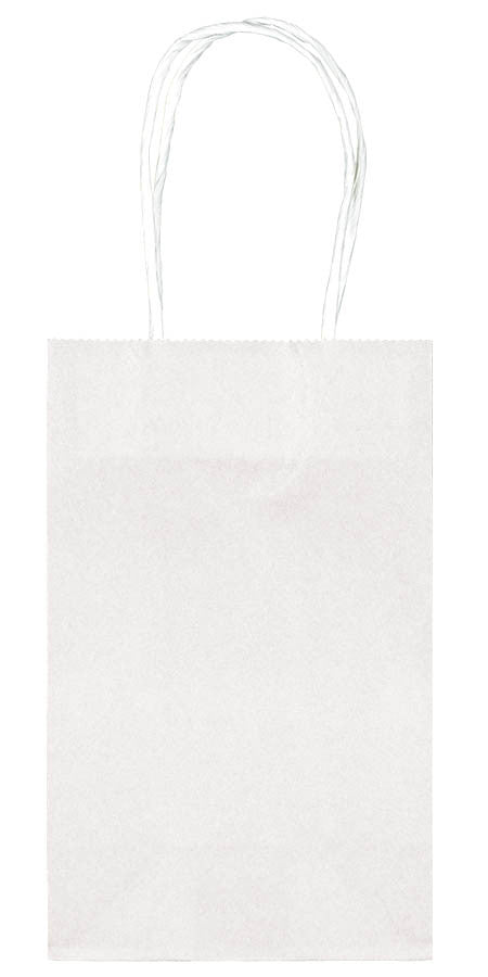 White Paper Cub Bags 10ct - FAVOR BAGS/CONTAINERS - Party Supplies - America Likes To Party