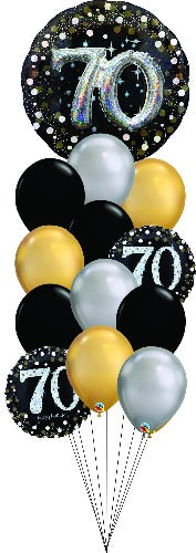 Sparkling 70 Balloon Floor Bouquet OB11