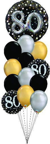 80th Birthday Balloon Bouquet