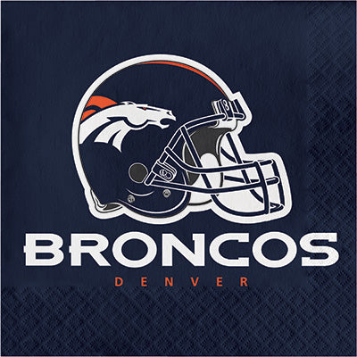 Denver Broncos Lunch Napkins 16ct - NFL - Party Supplies - America Likes To Party
