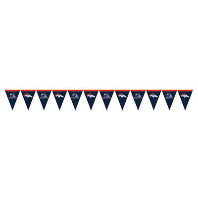Denver Broncos Pennant Banner - NFL - Party Supplies - America Likes To Party