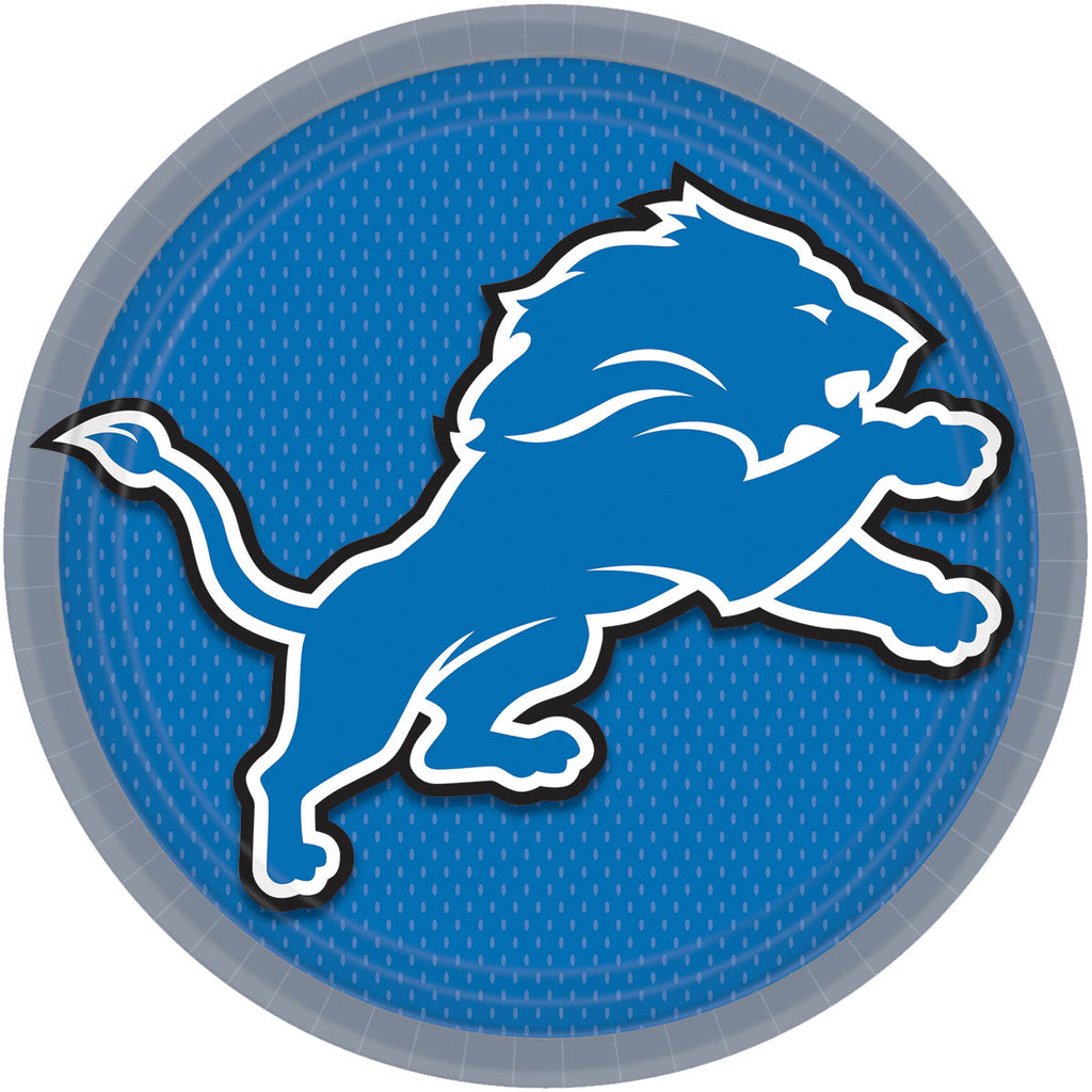 Detroit Lions Lunch Plates 8ct - NFL - Party Supplies - America Likes To Party