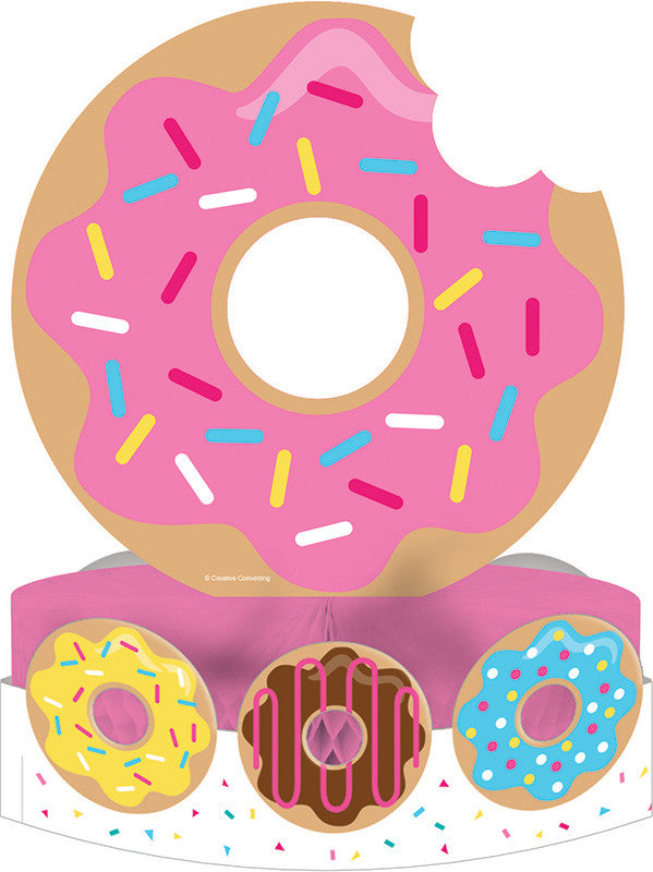 Donut Time Centerpiece - GENERAL BIRTHDAY PATTERNS - Party Supplies - America Likes To Party