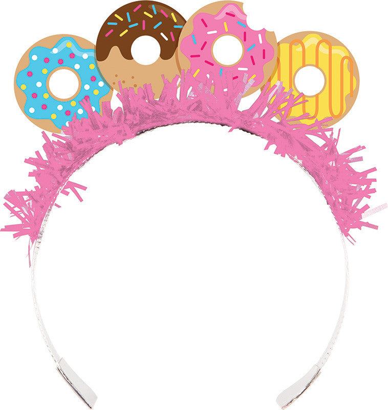 Donut Time Tiaras 8ct - GENERAL BIRTHDAY PATTERNS - Party Supplies - America Likes To Party