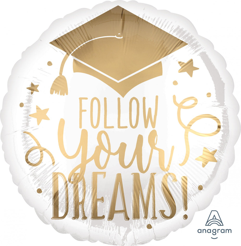 "Follow Your Dreams Grad 18"" Mylar Balloon"