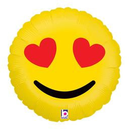 Emoji Hearts Balloon - KIDS BDAY MYLARS - Party Supplies - America Likes To Party
