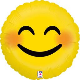 Emoji Smiley Balloon - KIDS BDAY MYLARS - Party Supplies - America Likes To Party