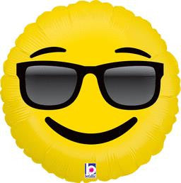 Emoji Sunglasses Balloon - KIDS BDAY MYLARS - Party Supplies - America Likes To Party