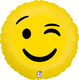 Emoji Wink Balloon - KIDS BDAY MYLARS - Party Supplies - America Likes To Party