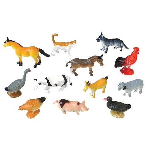Farm Animal Mini Figurines 12ct - PACKAGED FAVORS - Party Supplies - America Likes To Party