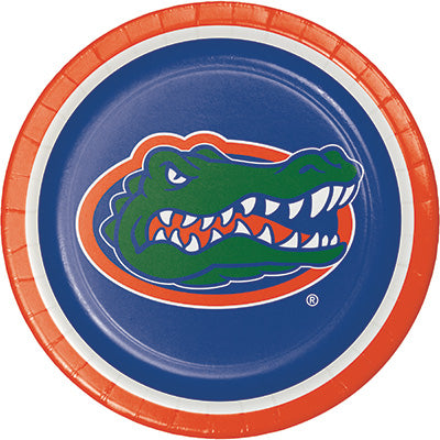 Florida Lunch Plates 8ct - COLLEGE SPORTS - Party Supplies - America Likes To Party