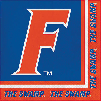 Florida Lunch Napkins 20ct - COLLEGE SPORTS - Party Supplies - America Likes To Party