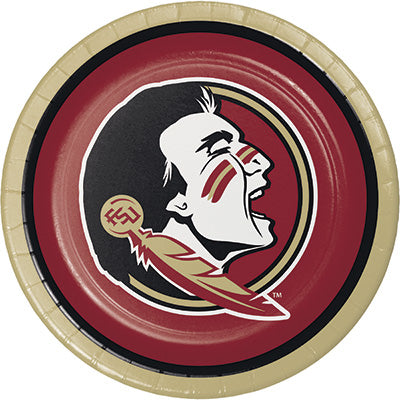 Florida State Lunch Plates 8ct - COLLEGE SPORTS - Party Supplies - America Likes To Party
