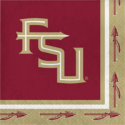 Florida State Lunch Napkins 20ct - COLLEGE SPORTS - Party Supplies - America Likes To Party
