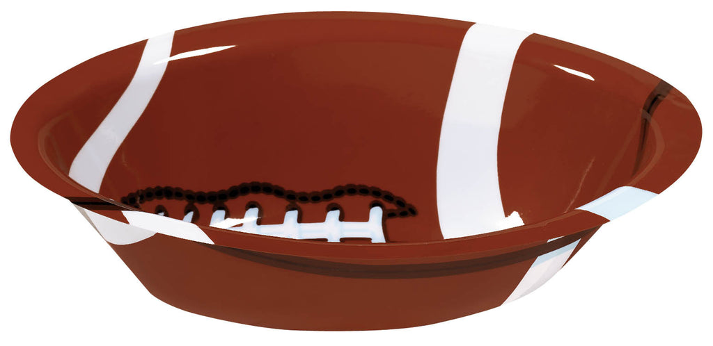 Football 14.5in Plastic Bowl - FOOTBALL - Party Supplies - America Likes To Party