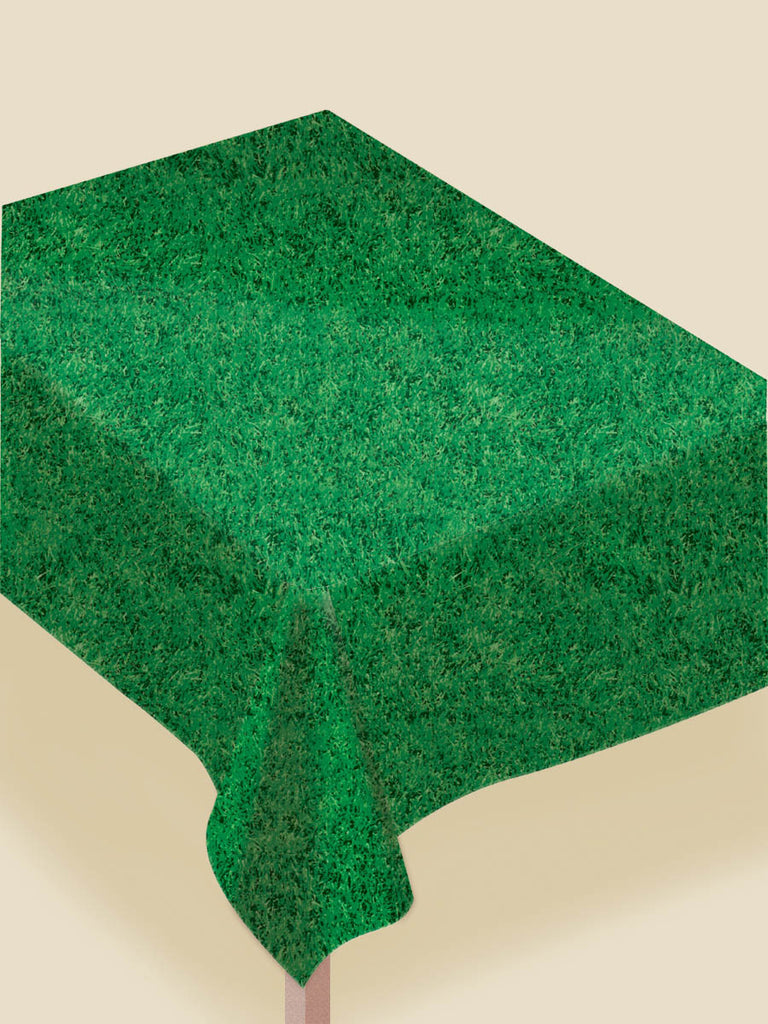 Grass Plastic Tablecover - FOOTBALL - Party Supplies - America Likes To Party