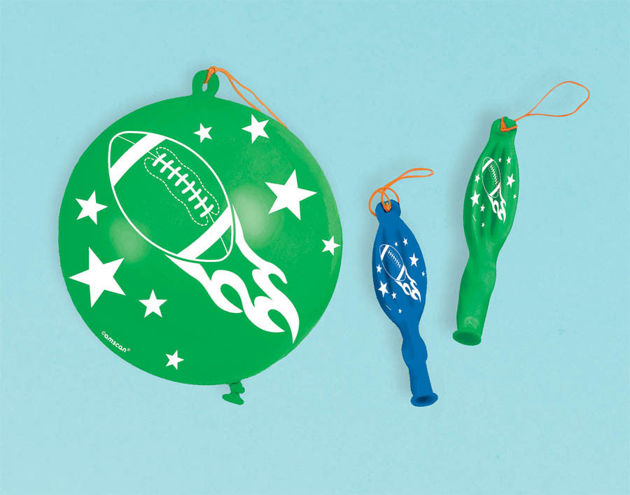 Football Punch Balloons 16ct - FOOTBALL - Party Supplies - America Likes To Party