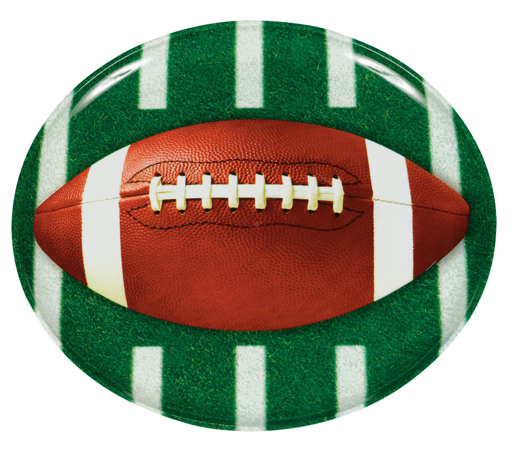 Football Round Platter - FOOTBALL - Party Supplies - America Likes To Party
